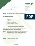 Risk Assessment Training Course