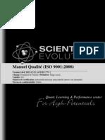 Manuel Qualité ISO9001:2008 Scientific Evolution Sàrl
