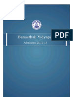 Banasthali Broucher 2012-13