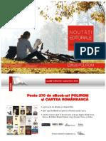Catalog carti Polirom Septembrie 2012