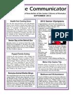 Communicator Senior Newsletter - September 2012