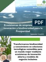 Ecosistemas de emprendimiento, innovación y biodiversidad para la prosperidad