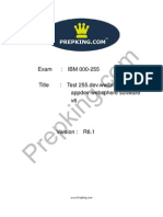 ibm rad certification(0-255) by Prepking.com(37qs)