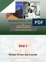 Manajemen Operasi - Chapter 3