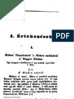 Kállay Ferenc  -  Mithra Tiszteletéről s Mithra emlékekről a Magyar Honban (1840)