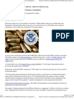 DHS Purchases 200 Million More Rounds of Ammunition