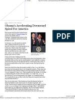Obama's Accelerating Downward Spiral for America