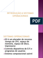 SO - Sistemas Operacionais - Introducao