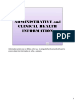 Administrative and Clinical Health Information