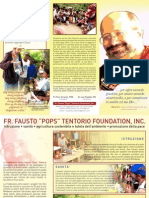 Fr Pops Foundation Brochure in Italian