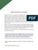 Apostasy and Islam the Current Hype- Zarabozo
