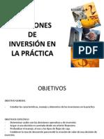 Decisiones de Inversion en La Practica