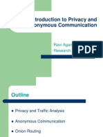 An Introduction to Privacy and Anonymous Communication