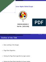 The Linear Algebra Behind Google Ppt