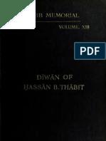 Diwaan (Arabic Complete Collection) - Hassan Ibn Thabit
