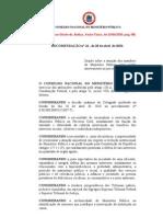 Recomendação 16, de 28 de abril de 2010 - CNMP