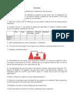 Exercícios sobre fundamentos da pneumática