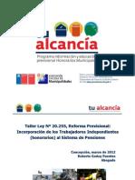 Programa información y educación previsional Honorarios Municipales