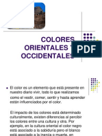 Colores Occidentales y Orientales