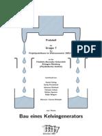 Kelvingenerator (Wassertropfen) Bau 1 (20 s.)