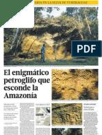 Petroglifo en Yurimaguas