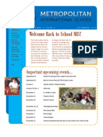 Monthly Newsletter 09-2012