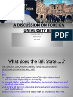 Foreign University Bill Final