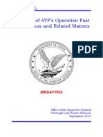 DOJ OIG Issues 'Fast and Furious' Report