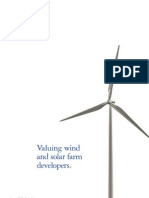 Valuing Wind and Solar Developers January 2011