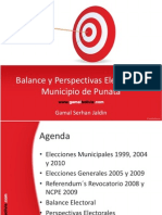 Balance y Perspectivas Electorales (Punata)