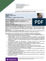 Postulaciones - Asamblea Nacional 2012