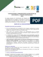 FONDO CONCURSABLE para PROYECTOS INNOVADORES en TURISMO 2012