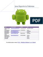 Android Java Experts in Pakistan