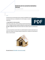 5 mandamientos de la economía doméstica que no debes traicionar
