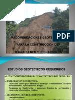TERRAPLENES - RECOMENDACIONES GEOTECNICAS