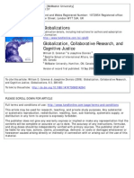 Wk 3-Globalization, Collaborative Research, And