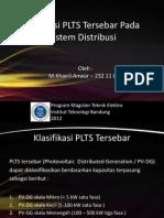 Integrasi PLTS Tersebar Pada Sistem Distribusi