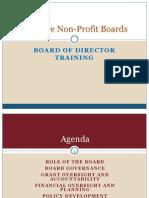 Board Training for Non Profits