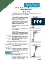 Panorama Economico Departamental - Jun2012