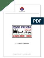 Relat Desafio Interm B Camboriu Camboriu 2012 ACBC