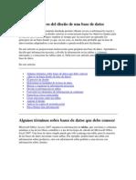 Conceptos básicos del diseño de una base de datos