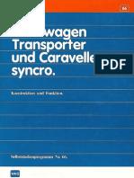 Vw Transporter - 066 Volkswagen Transporter t3 Und Caravelle Syncro 01.85