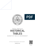 Fiscal Year 2013 Historical Tables Budget of the U.S. Government