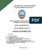Silabo - Salud Vi - 2012 II