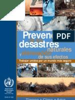 Prevencion de Desastres y Atenuacion de Sus Efectos