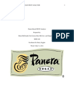 Panera Bread SWOT Analysis Final