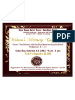 Annual Women's Ministry Conference 2012