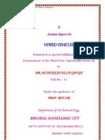 Hybrid Vehicles RUSHIKESH
