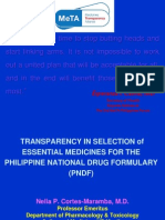 3rd MeTA Philippines Forum Maramba Nelia Transparency in Selection of Essential Medicines for PNDF