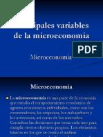 Principales variables de la microeconomía